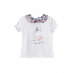 Camiseta cuello bebe estampado