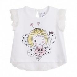Camiseta m/c estampado niña-mariposa