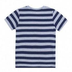Camiseta estampado rayas con dibujo cuerdas