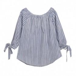 Blusa de rayas azules - Newness - KGV98913