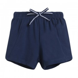 Short felpa cintura de goma con lazo