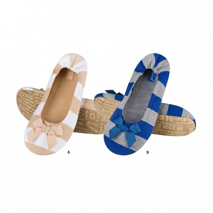 Zapatillas descanso a rayas con lazo - Soxo - SXV-62009