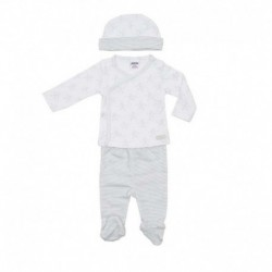 Cjto. jubon m/l + gorro big stars - Cotton Sugar - TAV-109 01070