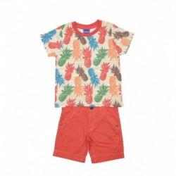 Cjto./o camiseta m/c pineapple