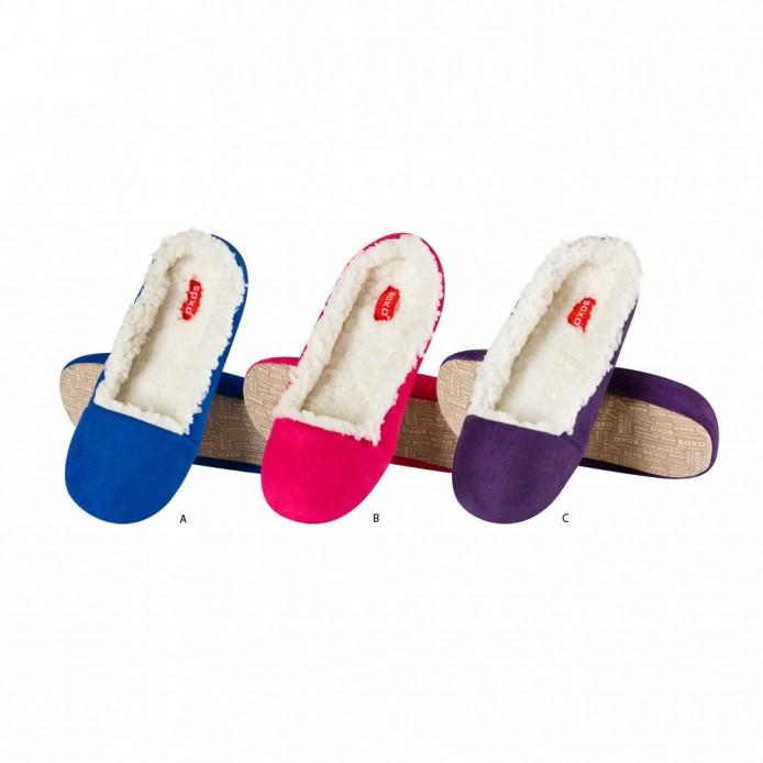 zapatillas descanso tipo bailarina relleno borreguillo - Soxo - SXV-32897
