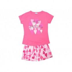Pijama inf niña m/c-p/c heart princess