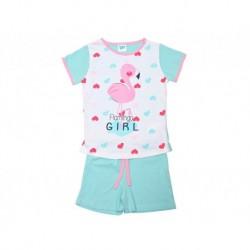 Pijama inf niña s/m-p/c flamingo girl