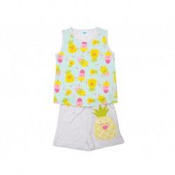 Pijamainf niña tirantes p/c pineapple