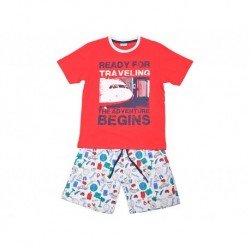 Pijama niño m/c-p/c ready for traveling - Cotton Sugar - TAV-191 77502