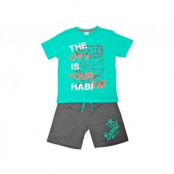 Pijama niño m/c-p/c the city is your habitat - Cotton Sugar - TAV-191 77505