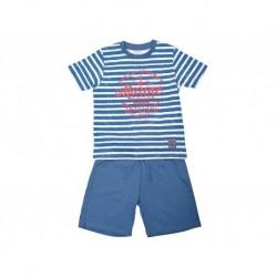 Pijama niño m/c-p/c marine