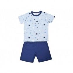 Pijama niño m/c-p/c estrellas