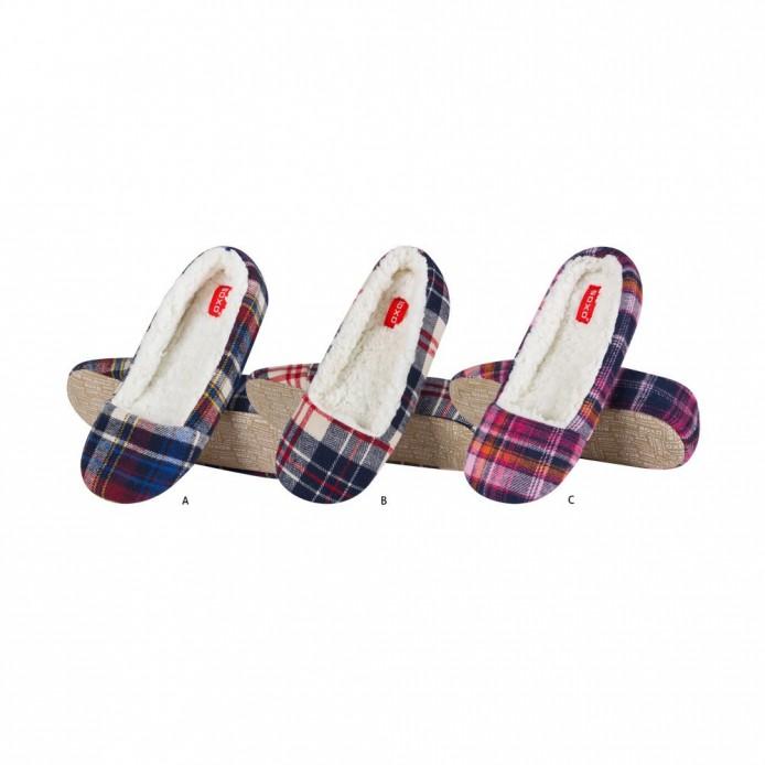 zapatillas descanso tipo bailarina a cuadros - Soxo - SXV-43633