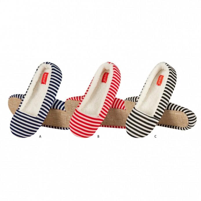 zapatillas descanso tipo bailarina a rayas - Soxo - SXV-40656