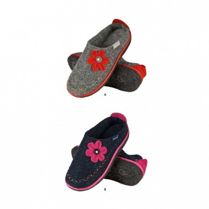 Zapatillas descanso fieltro con la flor - Soxo - SXV-43374