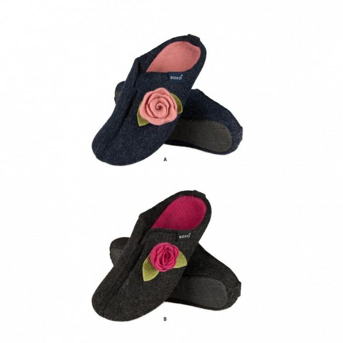 Zapatillas descanso fieltro con la flor - Soxo - SXV-43114