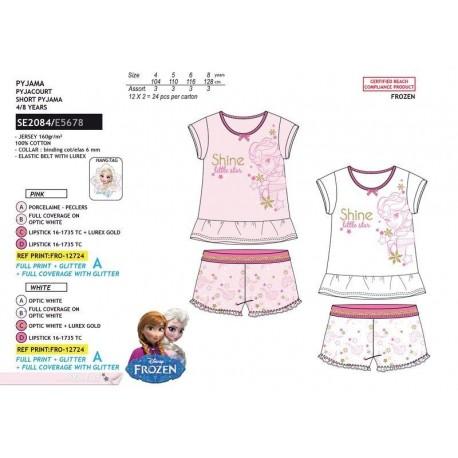 Pijama corto frozen almacen mayorista de ropa infantil, ropa de