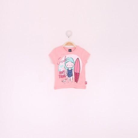 SMV-191050*1 Mayorista de ropa infantil Camiseta bebe niña -