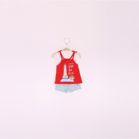SMV-191027 Mayorista de ropa infantil Conjunto bebe niña -