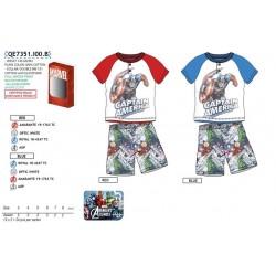 Pijama corto Avengers Niño en caja