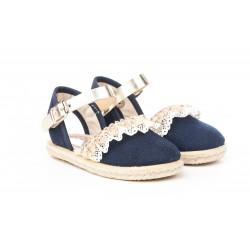 Angelitos® zapato niño, niña lonas de piel. fabricado en españa