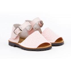 Angelitos® zapato niña ibicenca de piel. fabricado en españa