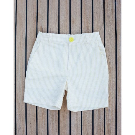Pantalón corto niño rayas amarillas - Carolo Baby - CRV-118356