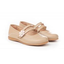 Angelitos® zapato niña merceditas de piel. fabricado en españa