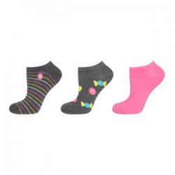 Pack 3 pares Calcetines tipo Footies lisos