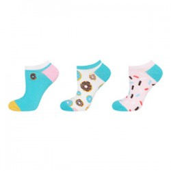 Pack 3 pares Calcetines tipo Footies estampados