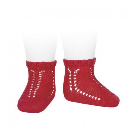 Calcetines cortos perlé calados con puño fantasía - Condor -