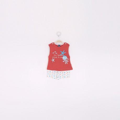SMV-191029 Mayorista de ropa infantil Conjunto bebe niña -