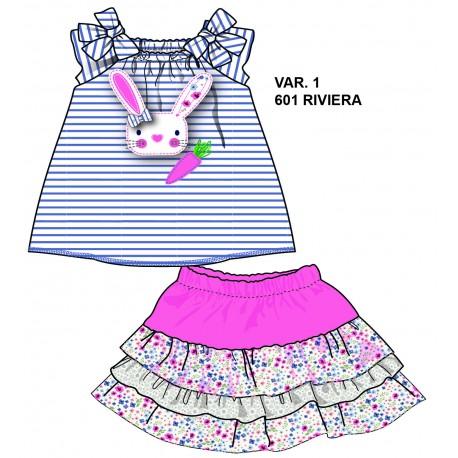 TMBB-72357-1 ropa bebe al por mayor Conjunto camiseta y falda