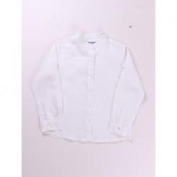Camisa cuello mao manga larga 55% algodón 45% ramio