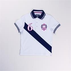 Polo manga corta bicolor detalles bordados 100% algodón - Newness - KBV06447