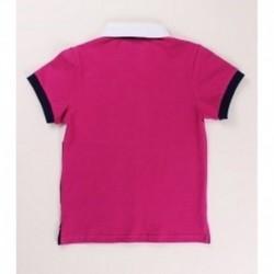 Polo manga corta bicolor detalles bordados 100% algodón - Newness - KBV06444
