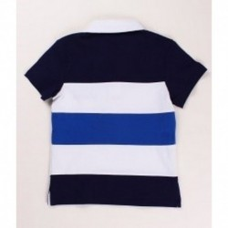 Polo manga corta bicolor detalles bordados 100% algodón - Newness - KBV06445