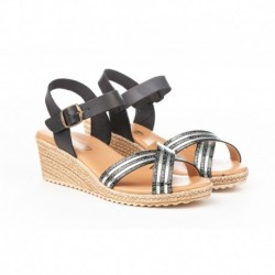 Metallic braid sandal - Angelitos - EVA-1231