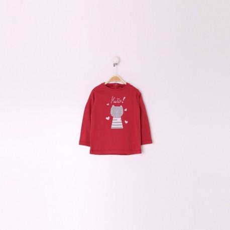 TMBB-29173_FRAMBUESA proveedor ropa de niñas Camiseta Manga