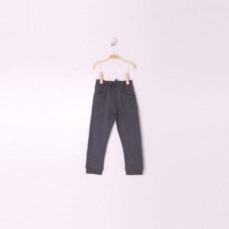 Pantalon Niño Color Gris Oscuro