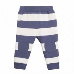 Pantalon deportivo rayas parches en rodillas