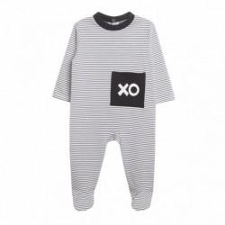 Pijama terciopelo rayas