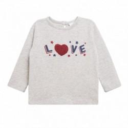 Camiseta love flock corazon rojo