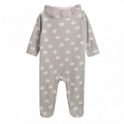 Pijama terciopelo con lazo de gasa