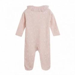 Pijama terciopelo con cuello de gasa
