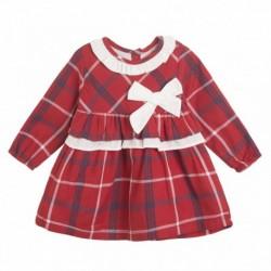 Vestido dulce de fiesta cuadros rojos