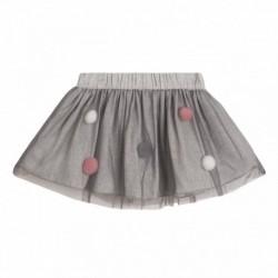Falda pompones