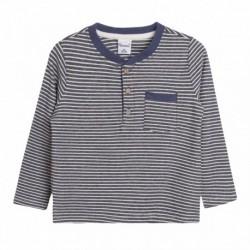 Camiseta rayas finas azules
