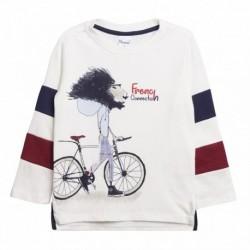 Camiseta leon andando con la bici