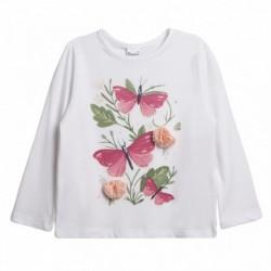 Camiseta mariposas y flores